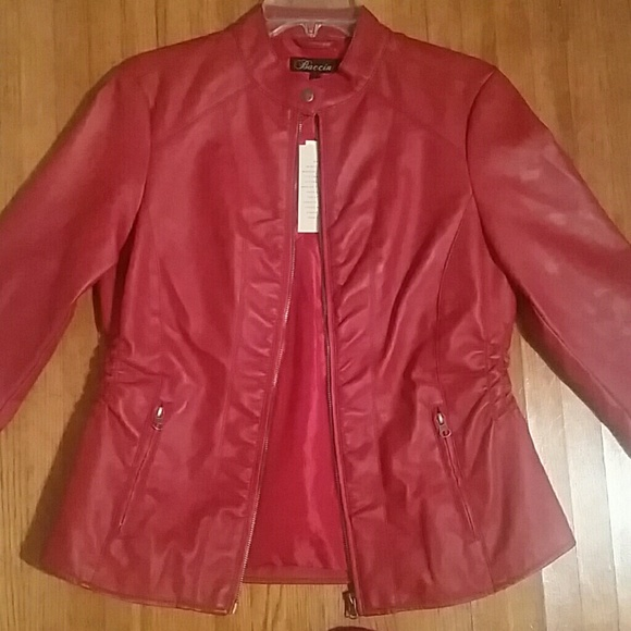 d7425c8fb Baccini Faux Leather Jacket NWT